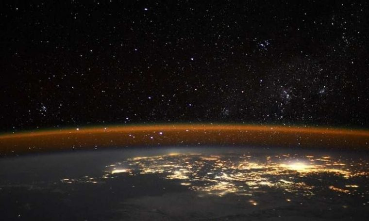 Astronaut takes a picture of Earth from a rare angle and draws attention