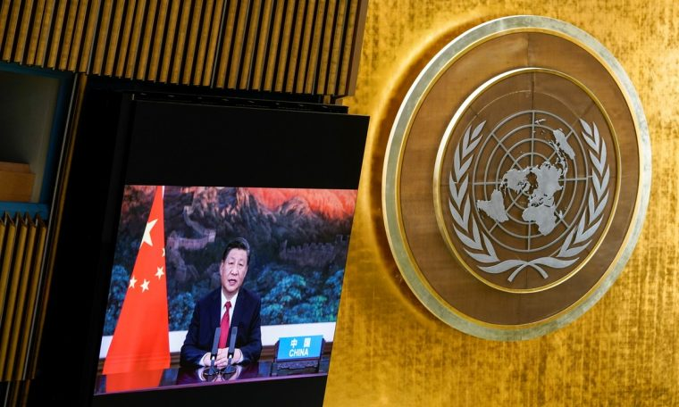 China's Xi Jinping told the United Nations that democracy is 'not a special right reserved for any one country'.  World