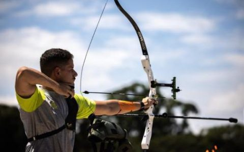 Marcus D'Almeida is second in the Archery World Championship