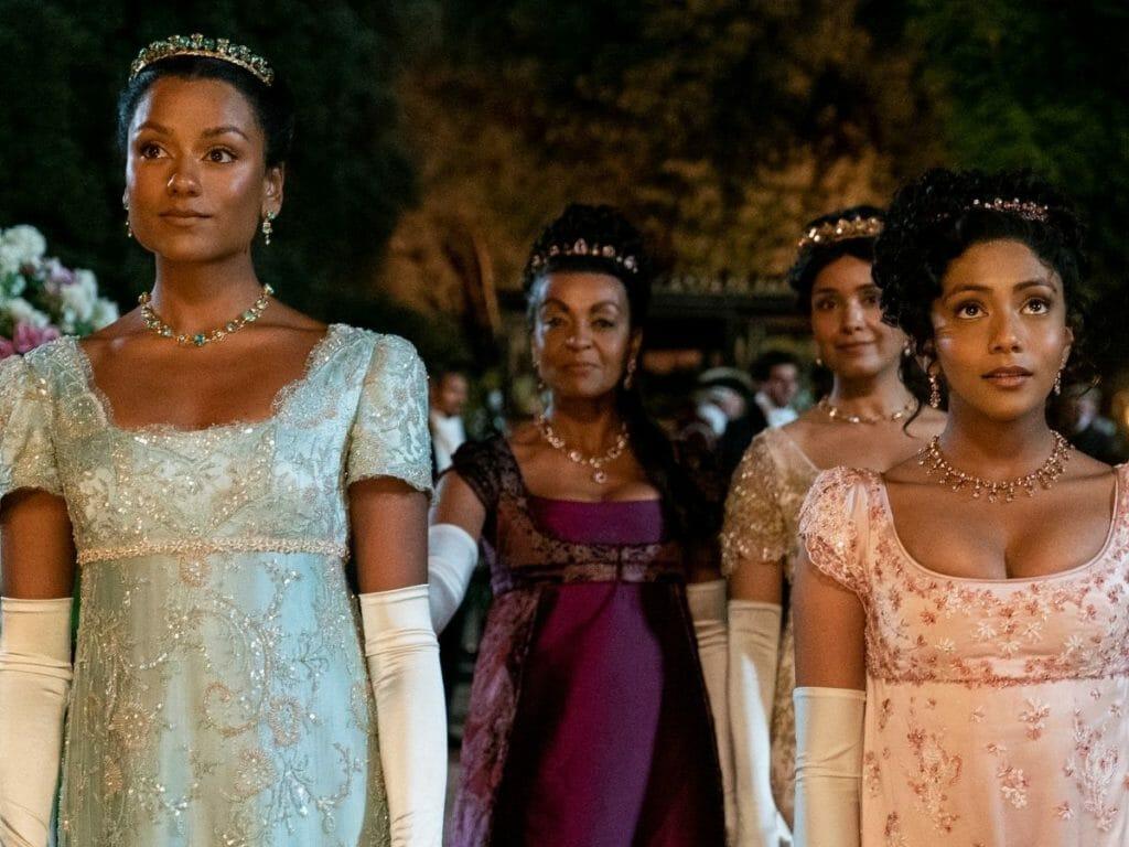 Simone Ashley, Adajoa Andoh, Shelley Cohn and Charitra Chandran and 2ª Temporada de Bridgerton