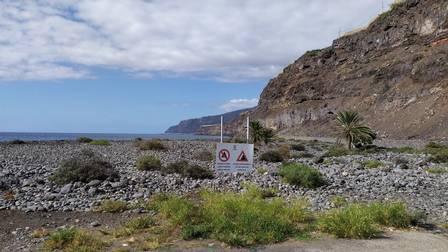 Los Guerres beach in La Palma, before the eruption