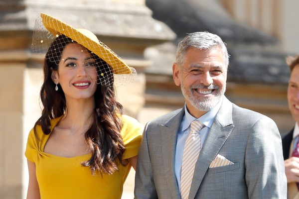 Amal Clooney and George Clooney at the UK Wedding of Prince Harry and Meghan Markle in May 2018 (Photo: Getty Images)