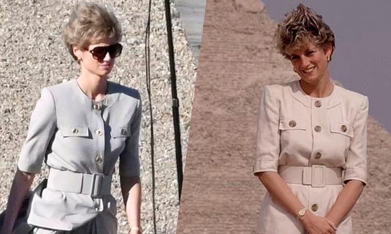Taj    Elizabeth Debicki appears as Diana behind the scenes of the series