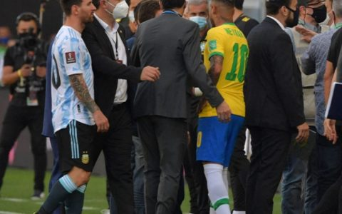FIFA President talks about the scandal in the match between Brazil and Argentina.  International