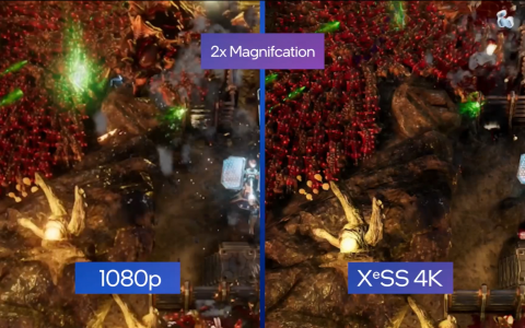 """High-resolution technology """"XESS"""" installed in the Intel GPU """"Ark"""", the first game demo - PC Watch"""