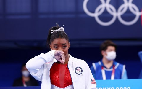 "Biles talks about her sentiment: ""I'm still scared of gymnastics"".  artistic Gymnastics"