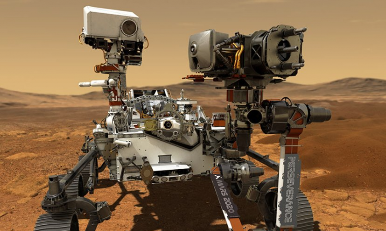 Persistence robot images confirm existence of a lake on Mars