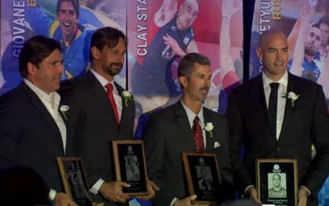 Riccardo, Serginho and Giovan were honored in the Volleyball Hall of Fame.  volleyball
