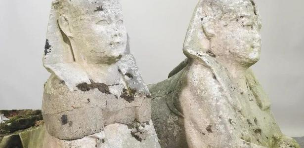 The family learns that the 'garden' statues cost R$1 million.  are the remains of